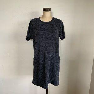 Everly knit Tshirt dress with HUGE kangaroo pocket